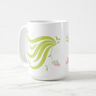 Caneca De Café Videira com flor