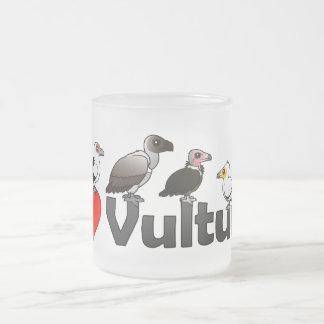 Caneca De Café Vidro Jateado Eu amo abutres (África)