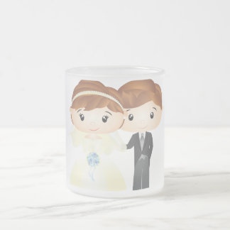 Caneca De Café Vidro Jateado Just Married - Mug