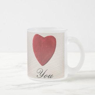 Caneca De Café Vidro Jateado Pano de fundo de gala Love you