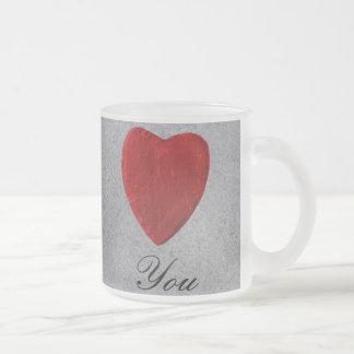 Caneca De Café Vidro Jateado Pano de fundo de quadro Love you
