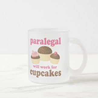 Caneca De Café Vidro Jateado Paralegal do cupcake