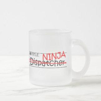 Caneca De Café Vidro Jateado Posição Ninja - expedidor