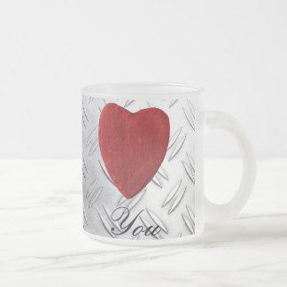 Caneca De Café Vidro Jateado Riffelblech pano de fundo Love you