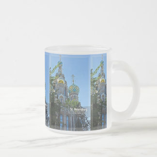 Caneca De Café Vidro Jateado St Petersburg, igreja do salvador no sangue