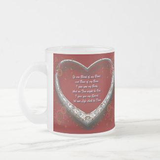 Caneca De Café Vidro Jateado Voto de casamento gaélico tradicional - sangue de