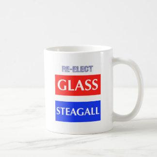 Caneca De Café Vidro Steagall do RE-ELECT