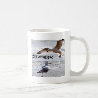 Caneca De Café Vindo em mim bro! Versão da gaivota