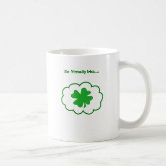 Caneca De Café Virtualmente irlandês