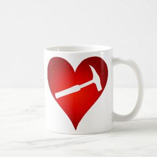 Caneca De Café Você balança meu mundo: Coração do martelo da