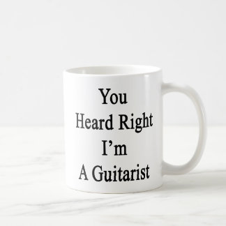 Caneca De Café Você ouviu-se que certo eu sou um guitarrista