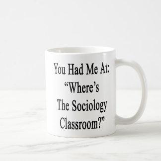Caneca De Café Você teve-me em onde está a sala de aula da