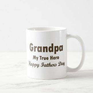 Caneca De Café Vovô meu pai feliz do herói verdadeiro