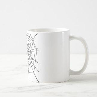 Caneca De Café Web de aranha preto e branco