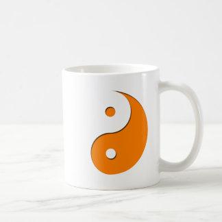Caneca De Café Yin Yang - laranja (1)
