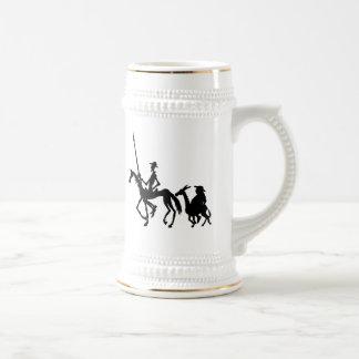 Caneca De Cerveja A arte gráfica de Don Quixote e de Sancho Panza