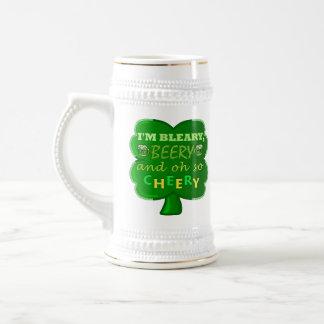 Caneca De Cerveja Cerveja engraçada do dia de Patrick de santo
