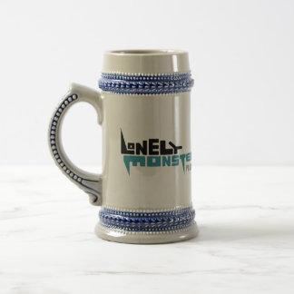 Caneca de cerveja com preto/logotipo da cerceta
