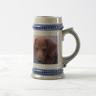Caneca De Cerveja Copo de café do filhote de cachorro da sobrecarga
