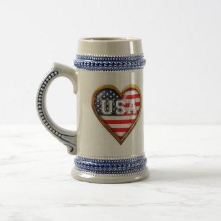 Caneca De Cerveja Coração americano