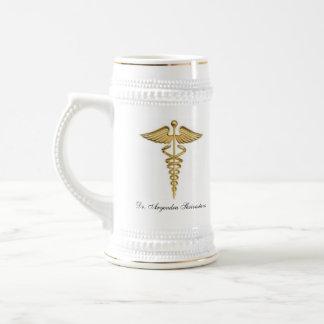 Caneca de cerveja da cerveja para um doutor