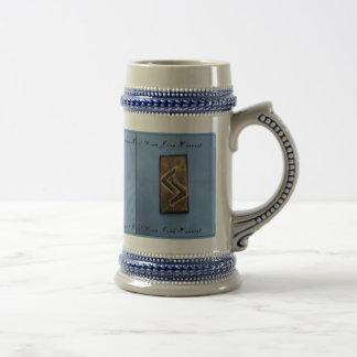 Caneca De Cerveja Da colheita de madeira do Rune do cedro de Jera