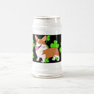 Caneca De Cerveja Desenhos animados do Corgi de Galês do Pembroke do
