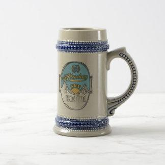 caneca de cerveja do Alasca da cerveja do sol