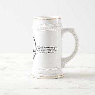 Caneca de cerveja do Pentagram com citações