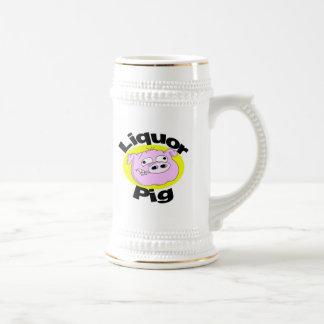 Caneca de cerveja do porco do licor