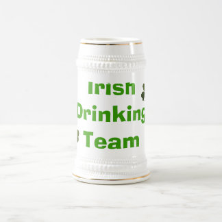 Caneca De Cerveja Equipe irlandesa do bebendo
