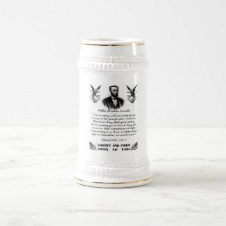 Caneca De Cerveja Liberdade e união