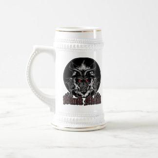 Caneca De Cerveja Metal do preto do Pentagram de Baphomet