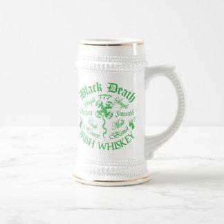 Caneca De Cerveja Morte preta 777 - uísque do irlandês do mel