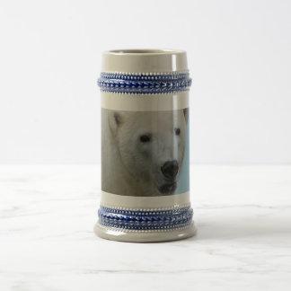Caneca De Cerveja Perfil dos ursos polares