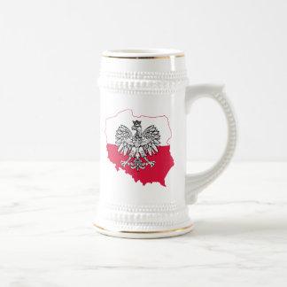 Caneca de cerveja polonesa da cerveja da bandeira