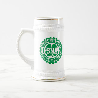 Caneca De Cerveja Propriedade da equipe irlandesa do bebendo de