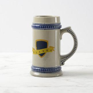 Caneca De Cerveja Protetor do ouro de Alaska