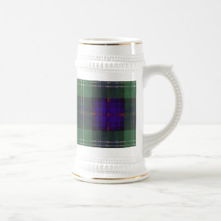 Caneca De Cerveja Tartan do Scottish da xadrez do clã de Keith