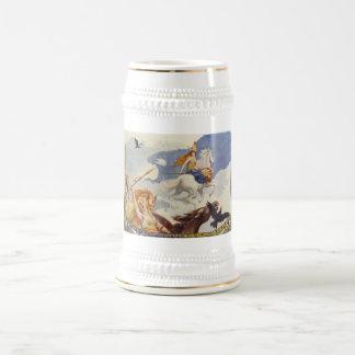 Caneca De Cerveja Valkyries bonito a cavalo
