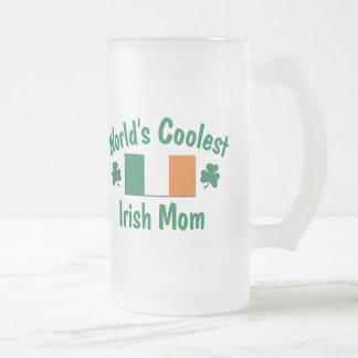 Caneca De Cerveja Vidro Jateado A mamã irlandesa a mais fresca