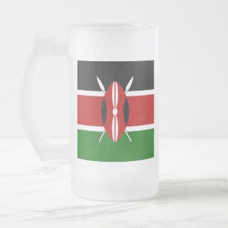 Caneca De Cerveja Vidro Jateado Bandeira de Kenya
