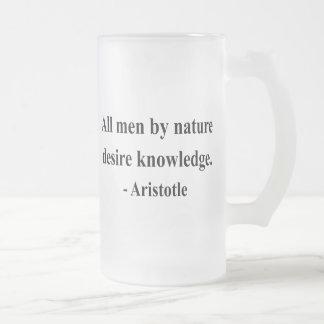 Caneca De Cerveja Vidro Jateado Citações 6a de Aristotle