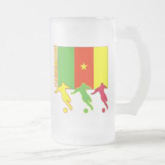 Caneca De Cerveja Vidro Jateado Futebol República dos Camarões