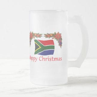 Caneca De Cerveja Vidro Jateado Natal de África do Sul