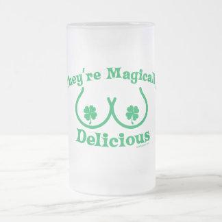 Caneca De Cerveja Vidro Jateado O dia | de St Patrick são màgica deliciosos