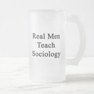 Caneca De Cerveja Vidro Jateado Os homens reais ensinam a Sociologia