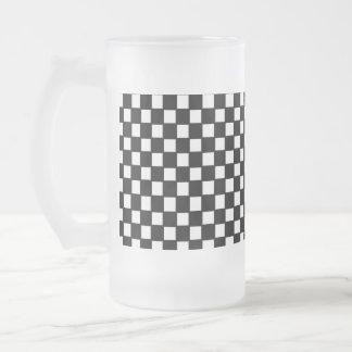 Caneca De Cerveja Vidro Jateado verificador preto e branco