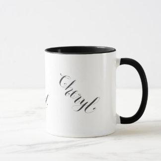 Caneca de Cheryl em preto e branco
