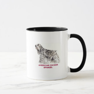 Caneca de cocker spaniel do americano